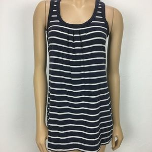 CAbi Striped Blue and White Racer back Tank